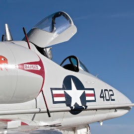 A-4C Skyhawk by Jim Baker - Transportation Airplanes