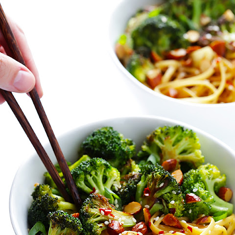 Sesame Noodles with Broccoli and Almonds