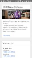 Screenshot of OCBC SG Mobile Banking