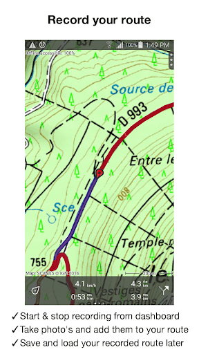 Topo GPS France - screenshot
