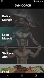 Gym Coach Pro Fitness app screenshot for Android