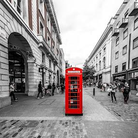 The Box by Matt Cooper - City,  Street & Park  Street Scenes ( covent, phone, sky, london, street, box, garden, people )