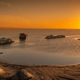 Chott el Djerid by Saša Petrović - Landscapes Sunsets & Sunrises ( water, color, lakes, sunrise, landscape )