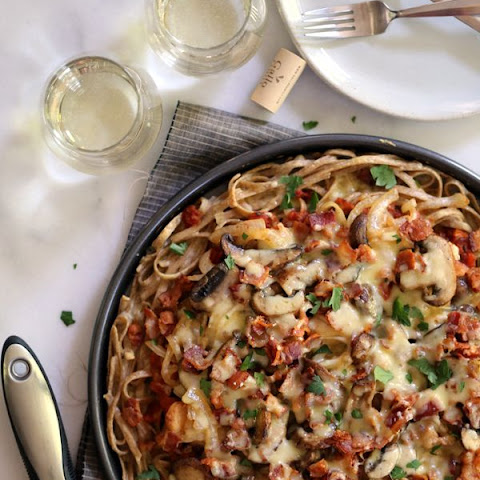 Chicken Bacon Swiss Spaghetti Pizza