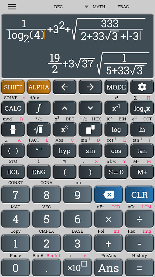 School Scientific calculator casio fx 570 es plus Screenshot 3