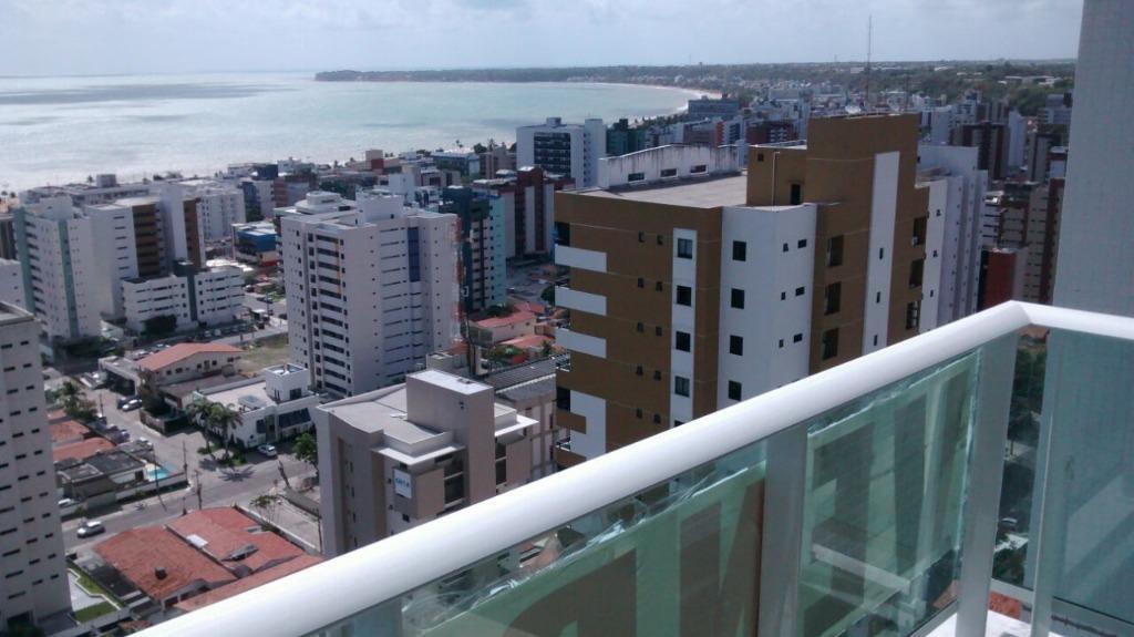 excelente apartamento com vista definitiva para o mar