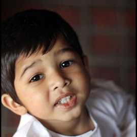Rivaan upclose by Mihir Shah - Babies & Children Children Candids ( rivaan, baby celebration, white, independence day, smiling, closeup, unspoken,  )