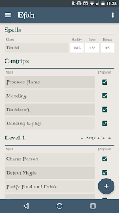 d20 5e Character Sheet - screenshot