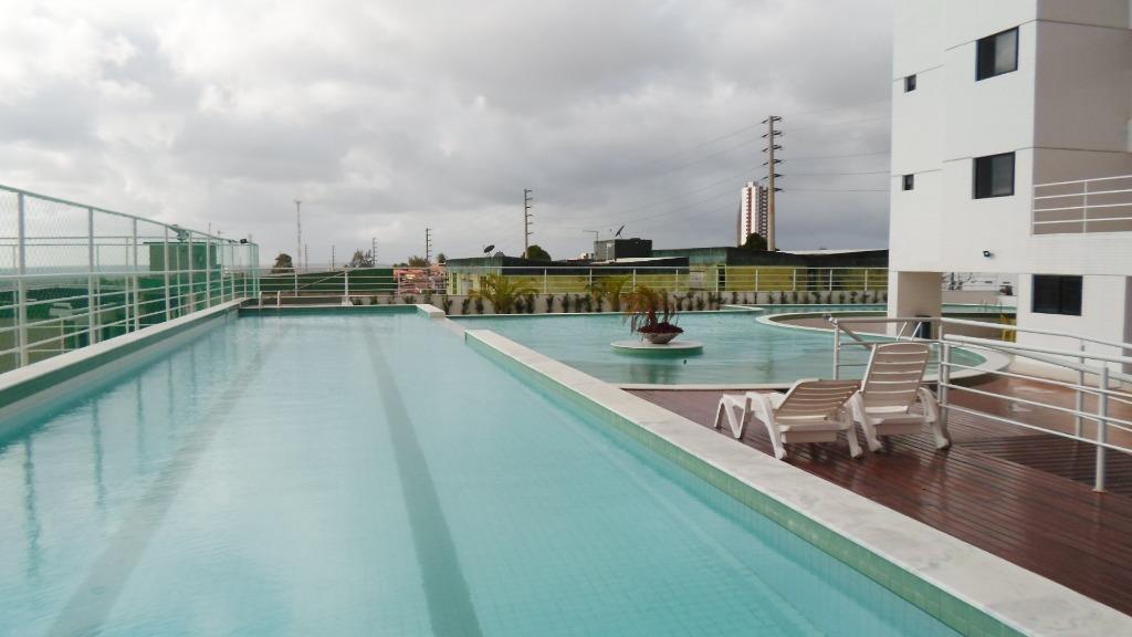 Apartamento com 3 dormitórios para alugar, 78 m² por R$ 1.100,00/mês - Jardim 13 de Maio - João Pessoa/PB