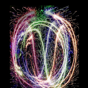 Rainbow fireworks by Hangga Pribadi - Abstract Light Painting