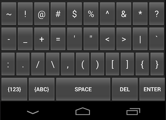 Numeric Keyboard Screenshot 2