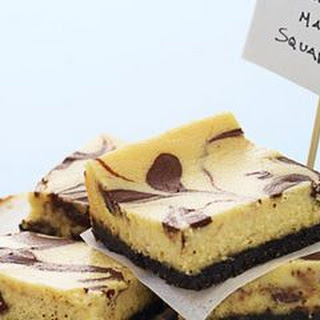 Chocolate Malt Cheesecake Bars