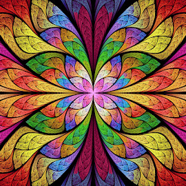 ESplits Bipolar Butterfly by Peggi Wolfe - Illustration Abstract & Patterns ( digital, color, unique, fractal, bright, abstract, fun )