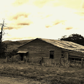 Old Barn by Sarah Harding - Novices Only Objects & Still Life ( building, novices only, architecture, historic, abandoned )