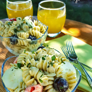 Pesto Ranch Pasta Salad