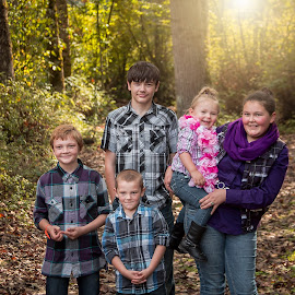 Siblings by Jenny Hammer - Babies & Children Child Portraits ( siblings, fall, brothers, sisters, cute, sun, kids )