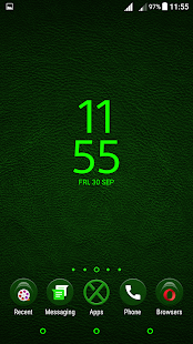 Leather XZ Green Theme - screenshot