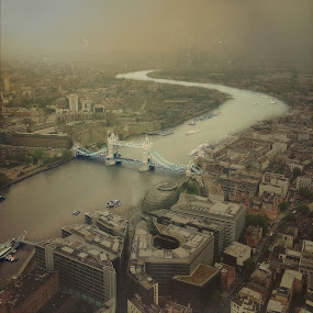 London From Above.  by Arijana Gurdon - City,  Street & Park  Skylines ( uk, thames, london, tower bridge, iphone, river )
