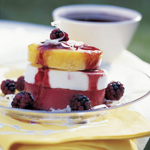 Blackberry-Mango Sundaes