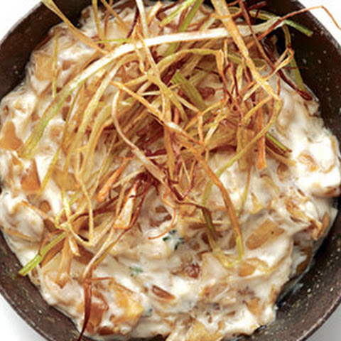 Caramelized Onion Dip With Frizzled Leeks