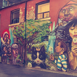 Toronto Wall Art by Yash Mehta - City,  Street & Park  Street Scenes ( colors, graffiti, toronto, street, art, painting, downtown )