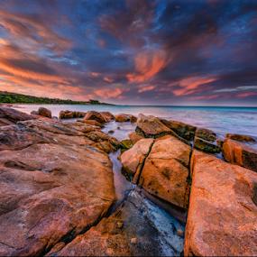 Infinate by Greg Tennant - Landscapes Sunsets & Sunrises ( sunset, beach, coastline, rocks,  )