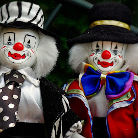 Two clowns by Ciprian Apetrei - Artistic Objects Toys ( colorful, toys, brittany, artistic objects, clowns )