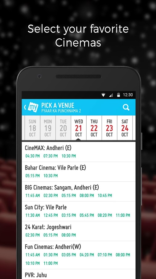 BookMyShow–Movie Tickets,Plays Screenshot 6