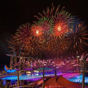 Countdown Celebration  by Joseph Goh Meng Huat - Public Holidays New Year's Eve ( marina bay singapore, new year's eve, holidays, party, photography, singapore, marina bay, countdown celebration, countdown, fireworks, joseph goh meng huat, celebration, celebrate )