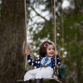 winging it by Craig Lybbert - People Family ( child, girl, frame, fun, smile, swing )