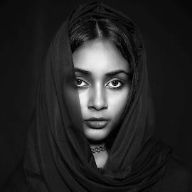 Indi-women by Saugata Paul - Black & White Portraits & People