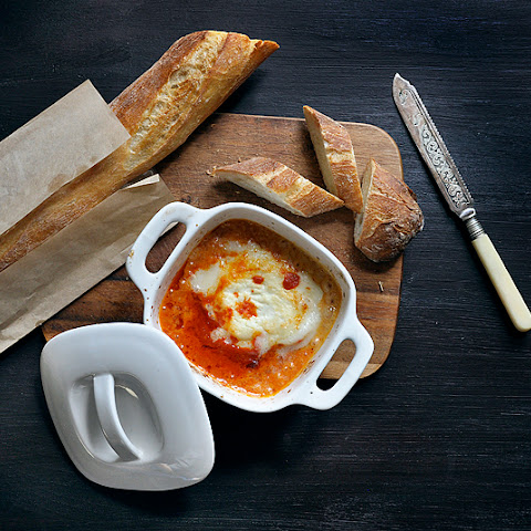 Baked Goat Cheese with Spicy Tomato Sauce