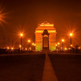 India Get Night by Praveen Shandilya - Buildings & Architecture Public & Historical ( delhi night life, india get, india get night view, india get in night )