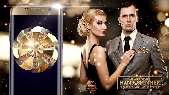 Golden fidget hand spinner