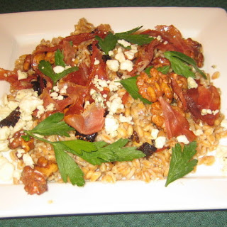 Farro Salad with Crispy Prosciutto, Figs and Walnuts
