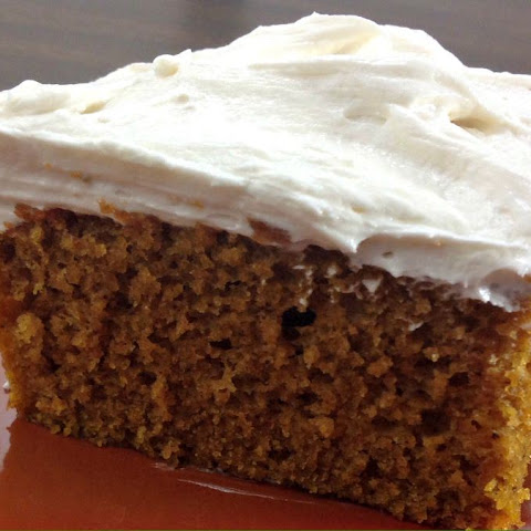 Pumpkin Cake with Fluffy Buttermilk Frosting