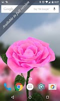 Screenshot of 3D Rose Live Wallpaper Free