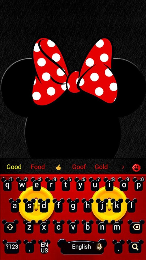 Nettes Micky Bowknot Keyboard Theme android apps download