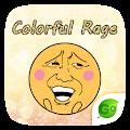 Keyboard Sticker Colorful Rage