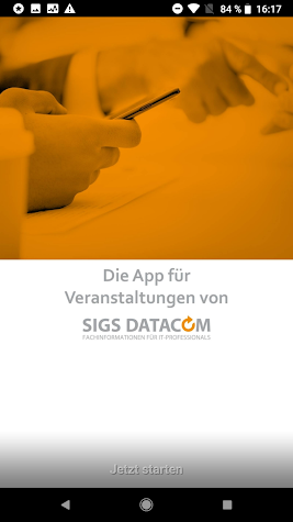 SIGS DATACOM IT EventApp Screenshot