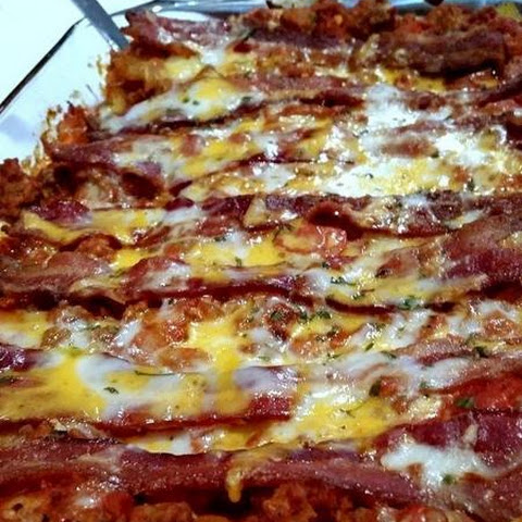 ~ Cheesy Bacon Lovers Lasagna ~ The Bomb!