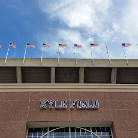 WHOOP!!! by Kathy Psencik - City,  Street & Park  Street Scenes ( kyle field, tamu, gig'em, home of the 12thman, gig'emaggies, farmers fight, 12th man )