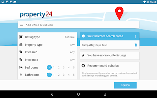 Screenshot of Property24.com