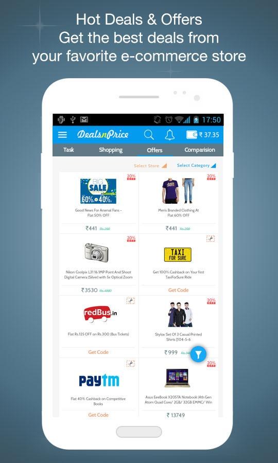 Deals N Price-Earn Cashback Screenshot 2