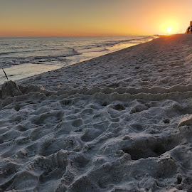Sand Castle at Sunset by Barry Lehman - Landscapes Beaches ( gulf shores, alabama )