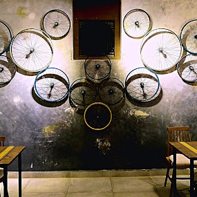 Magic Wall  by Santanu Goswami - Artistic Objects Furniture ( wheel, artistic, artistic objects, wall, room )