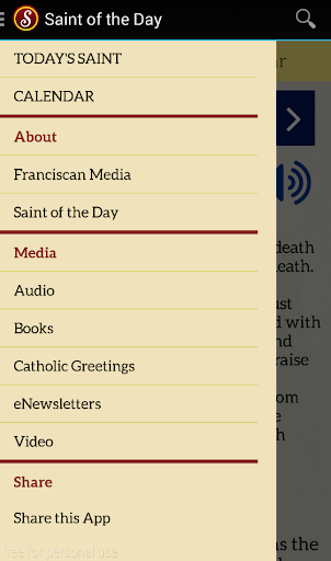 Saint of the Day - screenshot
