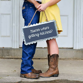 Engagement Session  by Pam Kissner Sheedy - People Couples ( cowboy boots, getting  hitched, couple, engagement announcement, engagement ring, engagement )