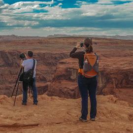 Photographer on Photograhper by Ralph Resch - People Couples ( photographer, photographers, taking a photo, photographing, photographers taking a photo, snapping a shot )