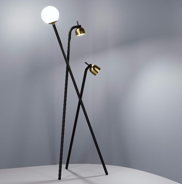 Front floor lamp by Swedish designers Sofia Lagerkvist and Anna Lindgren